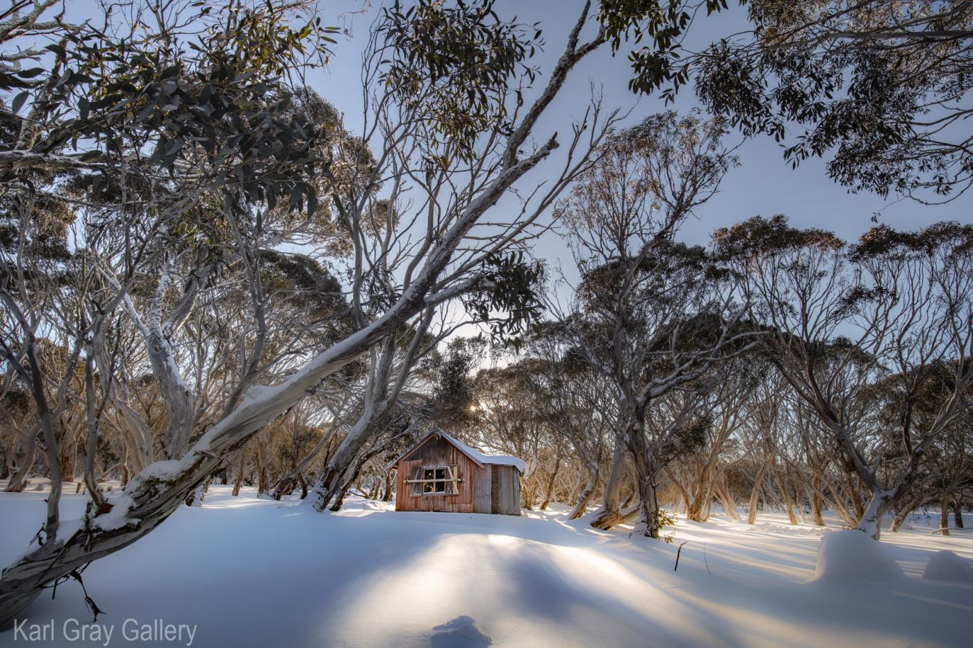 Karl Gray Gallery - jb hut, snow, mountains
