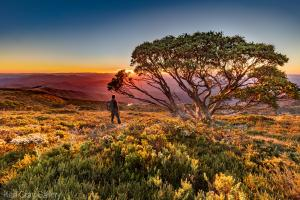 Rainbow sunset high country Hotham prints - Karl Gray