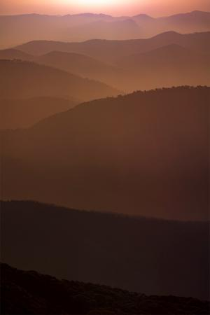 Hotham mountain layers print - Karl Gray